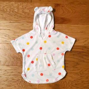 3/$15 Polka Dot Swim Coverup Hooded Ears